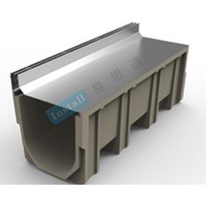 樹脂溝+側縫不銹鋼蓋板